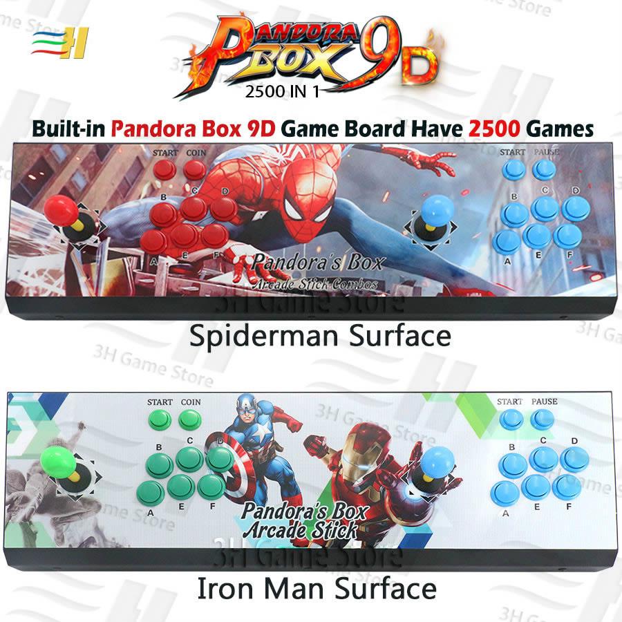 Pandora Box 9d 2500 in 1 arcade game console support 3P 4P usb connect gamepad support 3d tekken 1 2 3 Mortal Kombat 1 2 3 4(China)