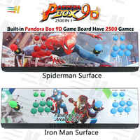 Pandora Box 9d 2500 in 1 arcade spiel konsole unterstützung 3P 4P usb verbinden gamepad unterstützung 3d tekken 1 2 3 Mortal Kombat 1 2 3 4