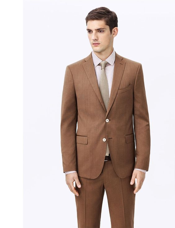 High Quality Groom Brown Suit-Buy Cheap Groom Brown Suit lots from ...