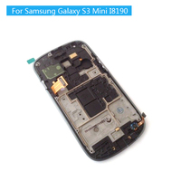 100 Super AMOLED LCD For Samsung Galaxy S3 Mini I8190 LCDS Display Touch Screen Digitizer Assembly