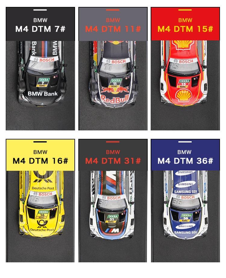 1/43 Schaal Diecast model Cars M4 DTM Racing Voertuigen Hoge - Auto's en voertuigen