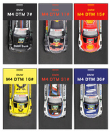 1 43 Scale Diecast Model Cars M4 DTM Racing Vehicles High Simulation Painting Toy Vehicles Alloy