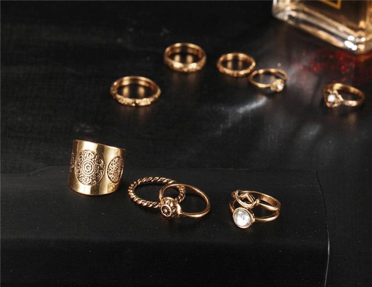 HTB1DA0gQVXXXXb6aXXXq6xXFXXX2 9-Pieces Antique Style Turkish Knuckle Ring Set For Women - 2 Colors