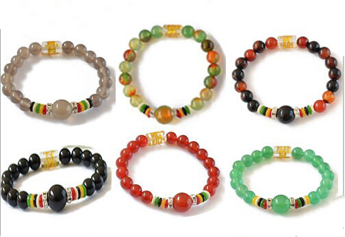 Natural Luck carnelian  Beads Bracelets Natural Stones Elastic Line Bracelet Men Jewelry Women Bracelet Fashion Wristband