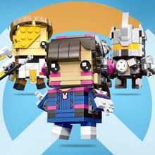 Ponad Dva miłosierdzia Tracer D. va Reinhardt Widowma zabawki bloki Action Figures Model Mini charakter figurki zabawki chłopiec