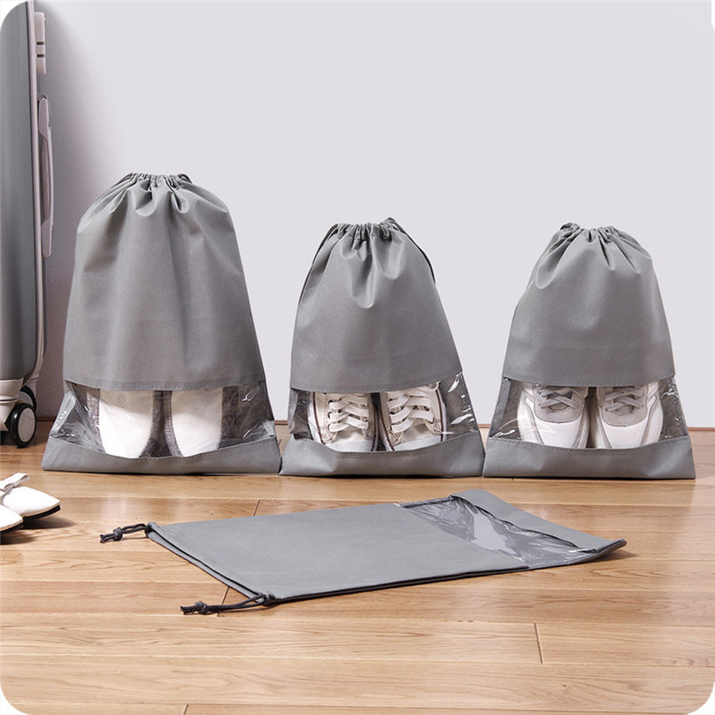 1pcs Shoe Bag Multi Purpose Travel Laundry Storage Pouch Zipper Storage Bags Organizer transparent Home Storage #3j17 (6)