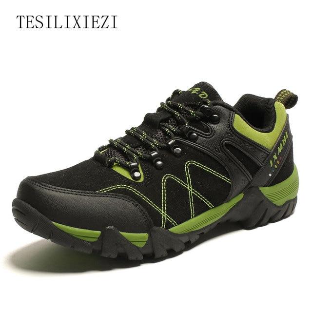 b302942c117f US $27.07 41% OFF|Herbst Leder Männer Wanderschuhe Outdoor Sport  Wanderschuhe Trekking Schuhe Männer Klettern Sneakers Jagdstiefel  Bergsteigen in ...