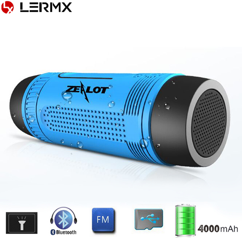 Outdoor Waterproof Bluetooth Speaker with LED Flashlight Sport Stereo Portable Bicycle Wireless Speaker 4000mAh Battery for