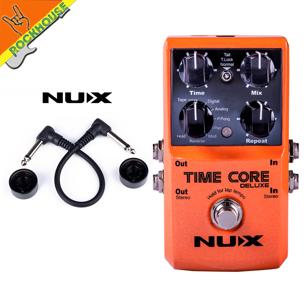 NUX Time Core Deluxe Digital Delay Guitar Pedal 7 Delay Effects Pedal Stereo output with 40