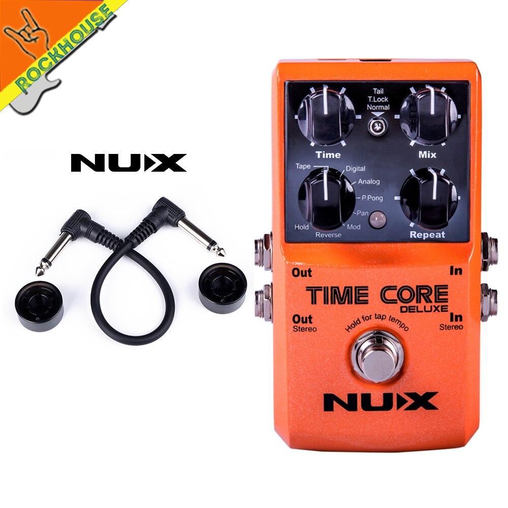 NUX Time Core Deluxe pédale de guitare à retard numérique 7 effets de retard pédale sortie stéréo avec Phrase 40 temps de bouclage livraison gratuite