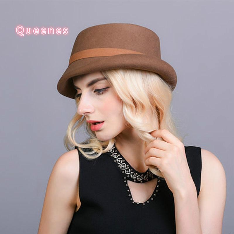 Australijos vilnos veltinio kibiro skrybėlė moterims - Drabužių priedai