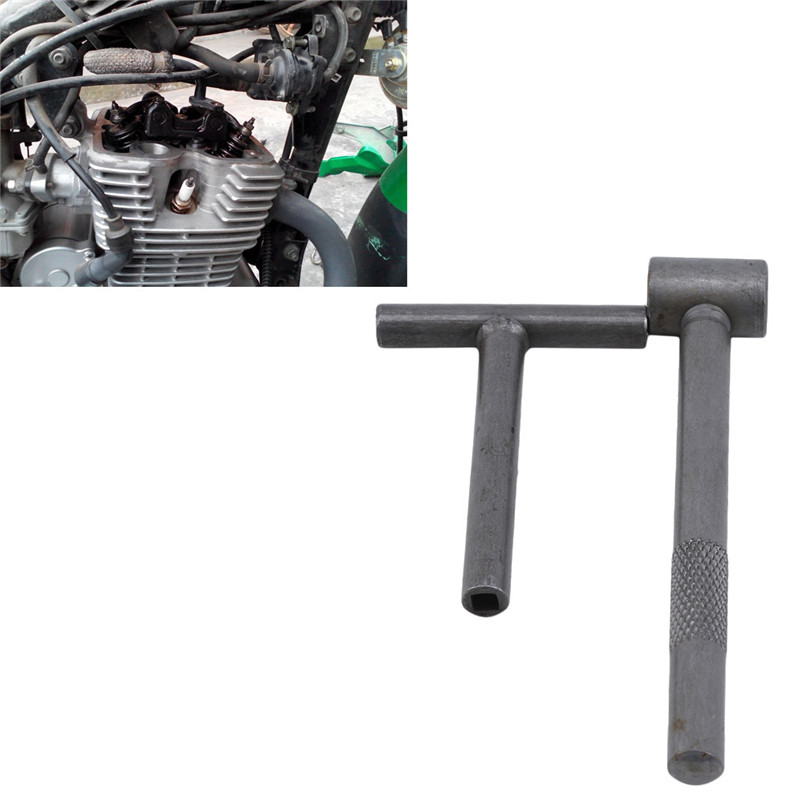 2Pcs Motorcycle Engine Valve Screw Square Hexagonal Hole Tool Repair Wrench Clearance Adjusting Spanner