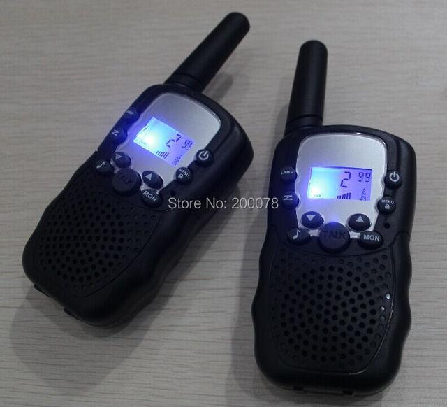 Nueva Generación 99 código privado par de walkie talkie t388 radios PMR446 walk talk o FRS/GMRS radios de $ number vías linterna