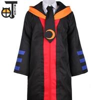 Cartoon Third Street Cosplay Costumes Assassination Classroom Clothing Coat+Shirt+Pant+Tie+Hat+Wig 6pcs Uniforms