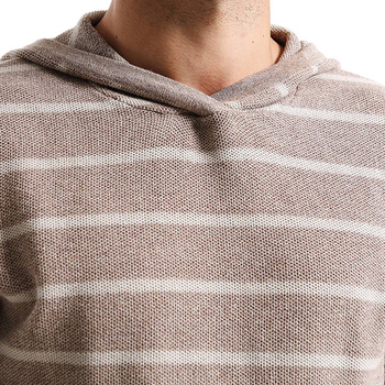 Striped Hooded Slim Fit Cotton Sweater 1