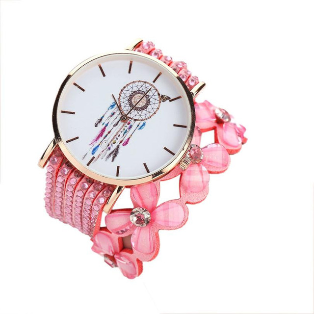 Timezone#502 Women Watches New Luxury Casual Analog Alloy Quartz Watch PU Leather Bracelet Watches Gifts