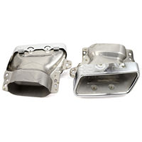2pcs Set Stainless Steel Auto Car Exhaust Pipes Tail Muffler Tips For Mercedes Benz W221 2005