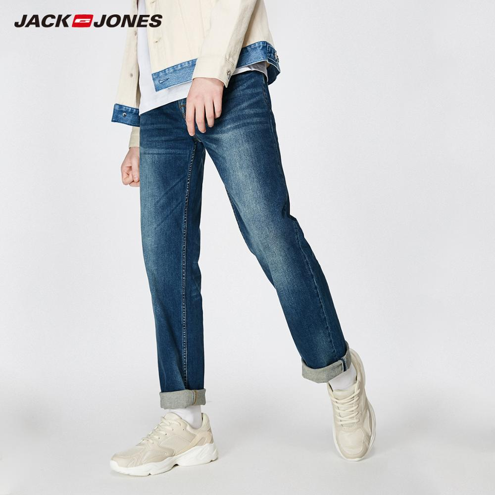 JackJones 2019 Nova Primavera dos homens Elásticos de Algodão Jeans Stretch Calças Soltas Fit Denim Calças dos homens Marca de Moda Desgaste 219132584