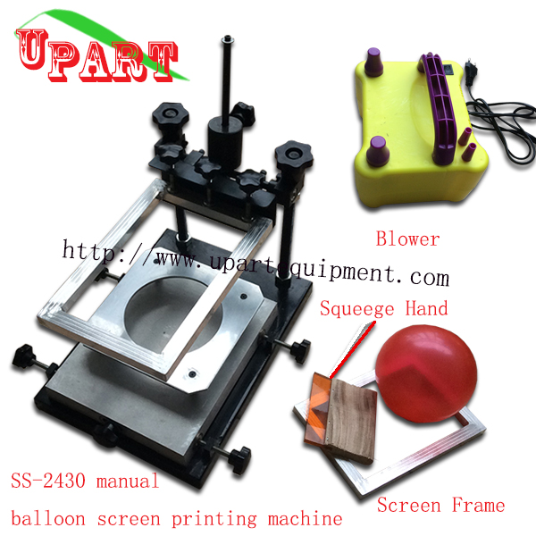 hand balloon screen printing machine with blow balloon machine