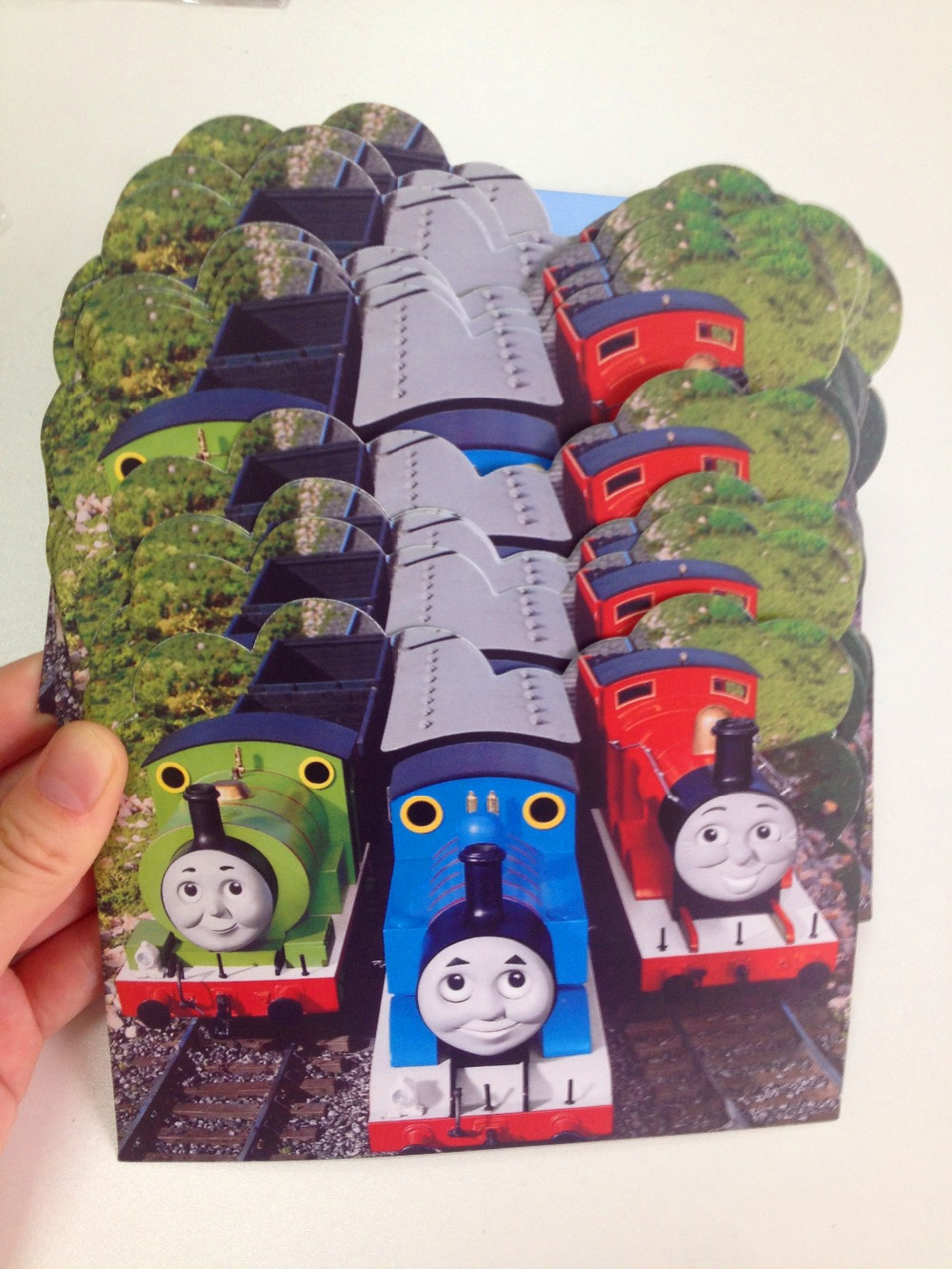 12pc/lot Cartoon Thomas And his Friends Invitation Card Children\'s ...