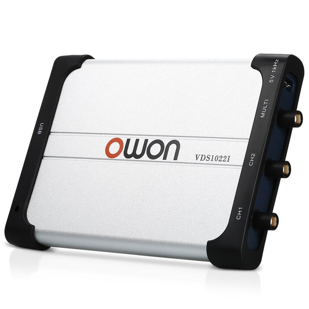 MHz Dual-channel Osciloscópio Virtual PC USB Osciloscópios 25 Instrumentos De Medição com Cabo da Sonda de Ferramentas Acessório