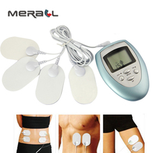 EMS Tens Acupuncture Body Massager Digital Therapy Machine With 4 Electrode Pads For Back Neck Foot Leg Pain Relief Health Care