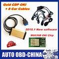 2015.1 Software de Oro TCS CDP OKI (Viruta de M6636B OKI) CDP Pro Con Bluetooth Para Coches y Camiones + 8 Cables Llenos de Automóviles de Diagnóstico OBD2