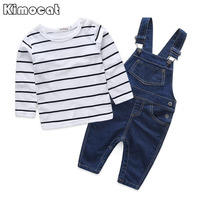 Striped Baby Clothing Sets Boy Cotton 2pcs Long Sleeve T Shirt Overalls Baby Boy Clothes Newborn