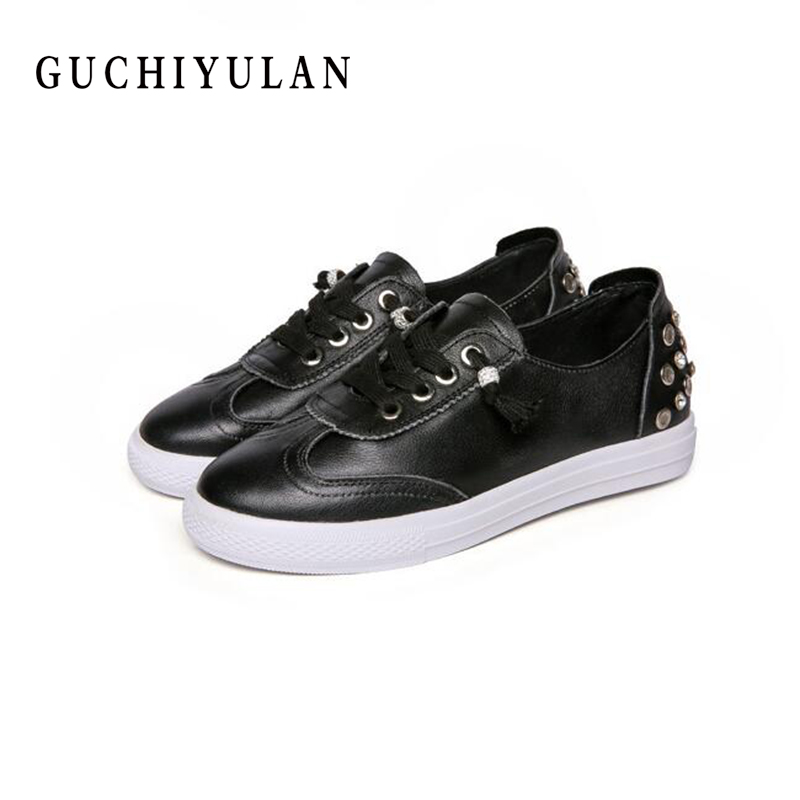 spring autumn new arrival women casual shoes genuine leather Crystal women flats Cowhide hand-stitching ladies moccasin shoes
