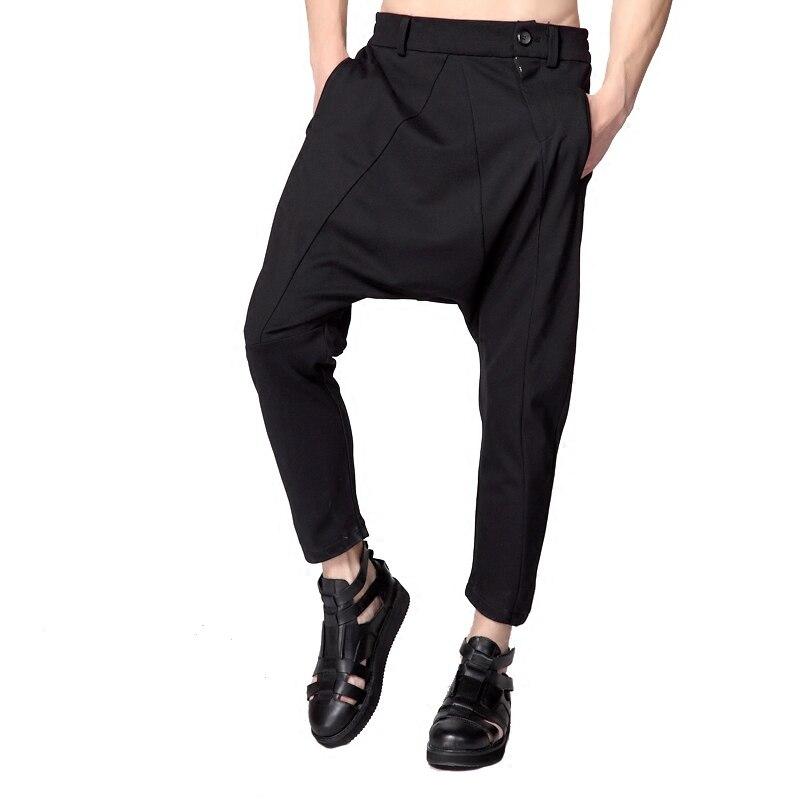 Lâche Taille Nouveau Vêtements Bas Croix Entrejambe Harem Cheveux Plus Hommes Mode Styliste Gd Pantalon Costumes 2018 27 Noir Et 44 La De b7gyf6