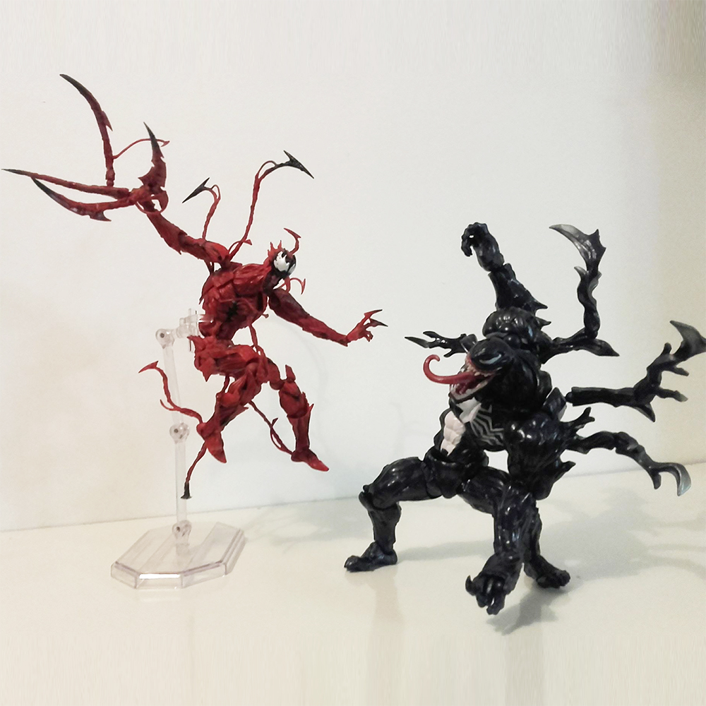Revoltech Yamaguchi The Amazing Spider Man Carnage Venom Action Figure Collection Model Toy Gift