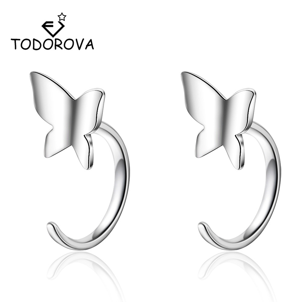 Todorova Insect Collection Cute Small Butterfly Stud Earrings for Women Children Girls Kids Jewellery New Fashion Accessories