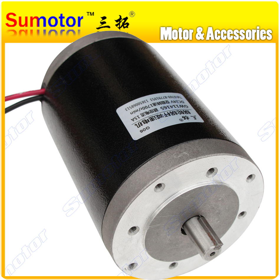 R114165 1800rpm dc 12v 24v 350w durable high speed for Waterproof dc motor 12v