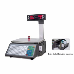 Image 4 - barcode printing Electronic weighing Scales with 10000 PLUs data storage capacity for supermarket meat shop or fruit shop