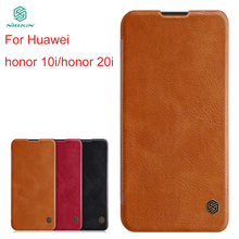 цены For Huawei Honor 20i honor 10i Case Cover NILLKIN PU Leather Flip Case For Huawei Honor 20i honor 10i Cover Flip Phone Case