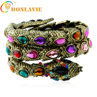 4 Colors Women Multilayer Snake Cuff Wide Bangle Pulseiras Para As Mulheres Bileklik Bransoletka Jewelry Gift