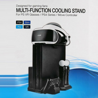 Multifunction Cooling Fan LED Indicator Station ABS Durable Vertical Stand Game Accessories Charging Base Black For PS4/Slim/Pro