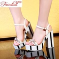 gladiator sandals 2017 new fashion women pu leather high quality summer shoes for women high heel dress party casual shoes woman