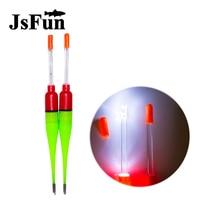 JSFUN Wholesale 50pcs Lot Luminous Fishing Float Led Fishing Buoy Electronic Glowing Night Vision Fishing Floats