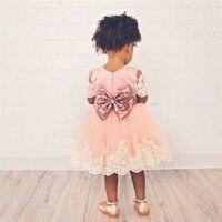 Baby Meisje Verjaardag Outfit Kant Bloem Trouwjurk Meisje Zuigeling Avondfeest Kinderkleding Kostuums Voor Meisjes Kids Kleding