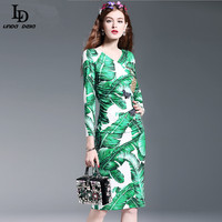 New 2016 Runway Sheath Pancil Dress Women S High Quality Long Sleeve Pineapple Fruit Sequin Beading