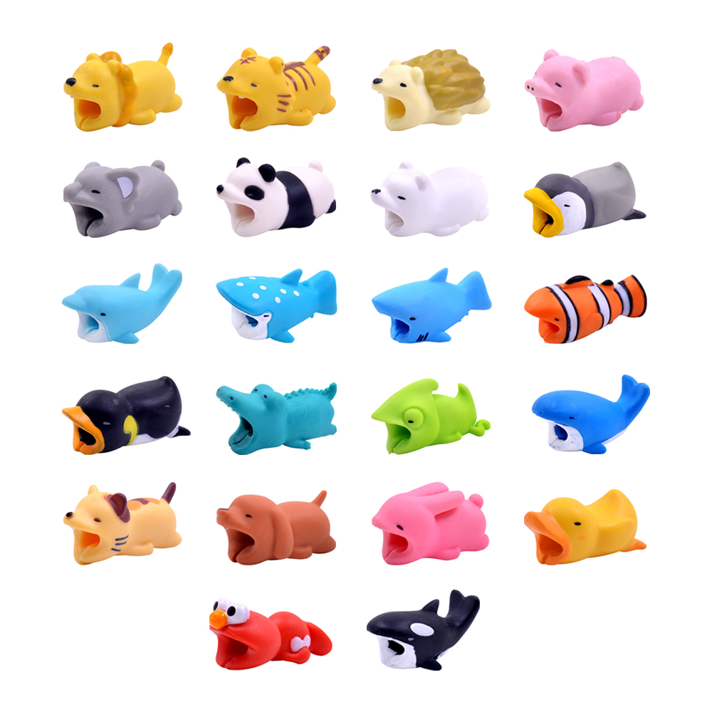 CHIPAL Cute Animal Bite Winder for iPhone USB Cable Protector Charger Organizer Chompers