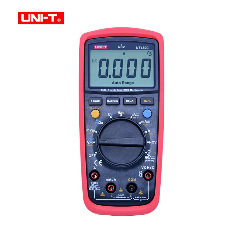 UNI-T UT139C True RMS Digital Multimeter LCD Display LCR Meter Handheld Tester Ammeter Multitester цена