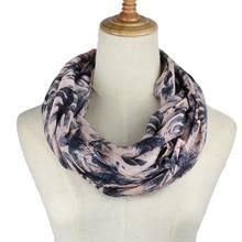 infinity Scarf for women Floral striped Infinity Loop ring scarf shawl Neckerchief Echarpe Foulard Femme O scarves