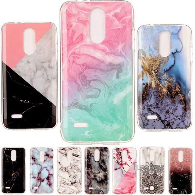 on sale 604c6 db188 US $3.64 27% OFF|For LG K7 2017 Case 5.0 Granite Marble Skin Clear Soft TPU  Silicone Back Cover For LG K7 2017 LG X230 LGX230 Case Phone Cases-in ...