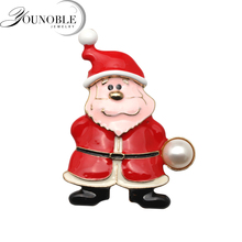 Beautiful freshwater pearl brooch for women,Christmas santa claus with girl party gift