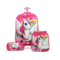 Kids School Bag for Luggage Suitcase for Girls Children Rolling Travel School Bags Bags School Backpack with Wheels Wheeled Bag