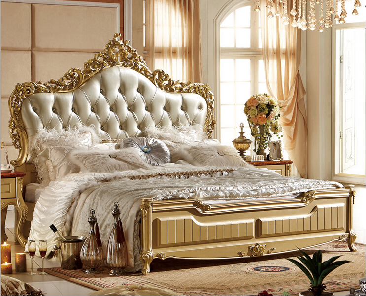 Online Shop Latest Design Modern White Leather Bed bedroom ...