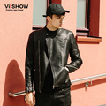 VIISHOW Mens Leather Jacket Hip Hop Motorcycle Winter Leather Jackets Male Casual Zipper Slim Fit Jacket Coat Men Suits DC19863