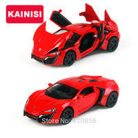 15 5CM Fast Furious7 Alloy Cars Lykan Hypersport Pull Back Diecast Model Toy With Sound Light